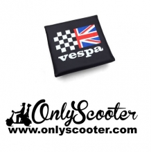Rear Flip Flop Rack Back Rest Pad Union Jack/Racing Flag