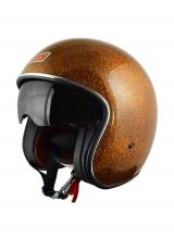 Casco Origine Sprint Naranja Estilo custom Harley Davidson