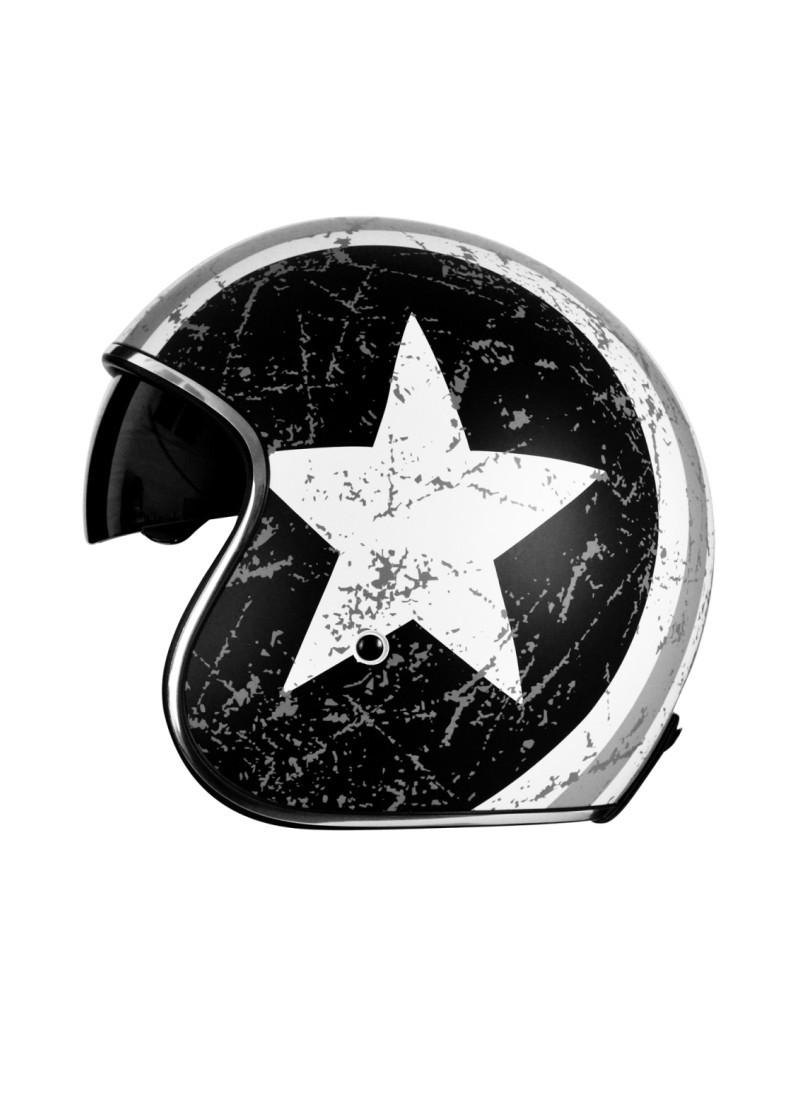 Casco Jet Origine Sprint Rebel Star Gris