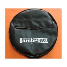 Funda Rueda Repuesto Negra Lambretta S2/S3