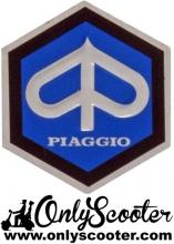 Logo Escudo hexagonal Piaggio 42 mm adhesivo Vespa 160
