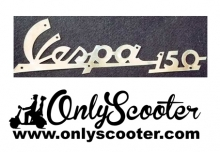 Logo anagrama frontal Vespa 150 cromado