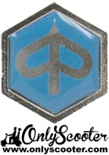 Logo Piaggio hexagono adhesivo resina