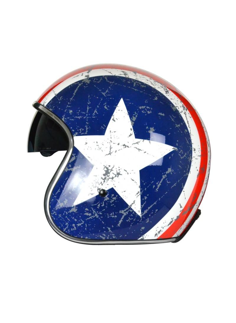 Casco Origine Sprint Rebel Star Casco estilo capitan américa