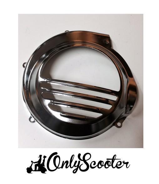 Tapa ventilador CROMADA Vespa 125-150-200 PE-IRIS-PX-CL-TX (todas sin bateria)
