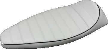 Sillin Corsa Vespa Primavera 125 color Blanco Ribete Negro