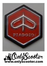 Anagrama hexagonal resina-pegatina color rojo Vespa 160