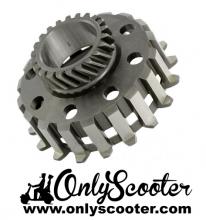 Piñon embrague 24 dientes DRT Vespa PX embrague COSA muelles pequeños (dientes helicoidales,115mm)