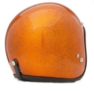 Casco Hemlet 70s Naranja
