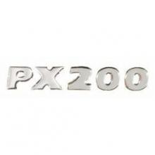 Logo anagrama lateral cofano Vespa PX 200 disco resina