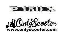 Logo anagrama cofanos Vespa PX 150 E adhesivo