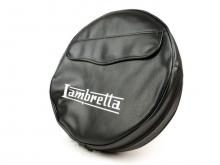 Funda rueda de recambio LAMBRETTA negro (con bolsillo)