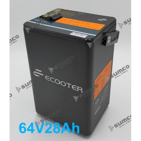 Bateria Litio Secundaria ECOOTER E2 1.80 kWh (64V/28Ah) Extraible