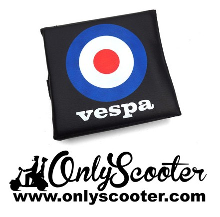 VESPA  Rear Flip Flop Rack Back Rest Pad MOD Target