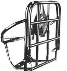 Portabultos y rueda trasero S3