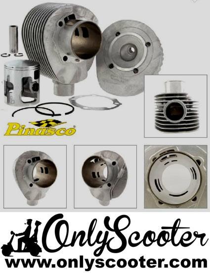 Cilindro Pinasco 215cc SUPER SPORT Vespa 200  IRIS,DN,DS,PX,TX  (carrera normal 57) aluminio, BUJIA CENTRAL